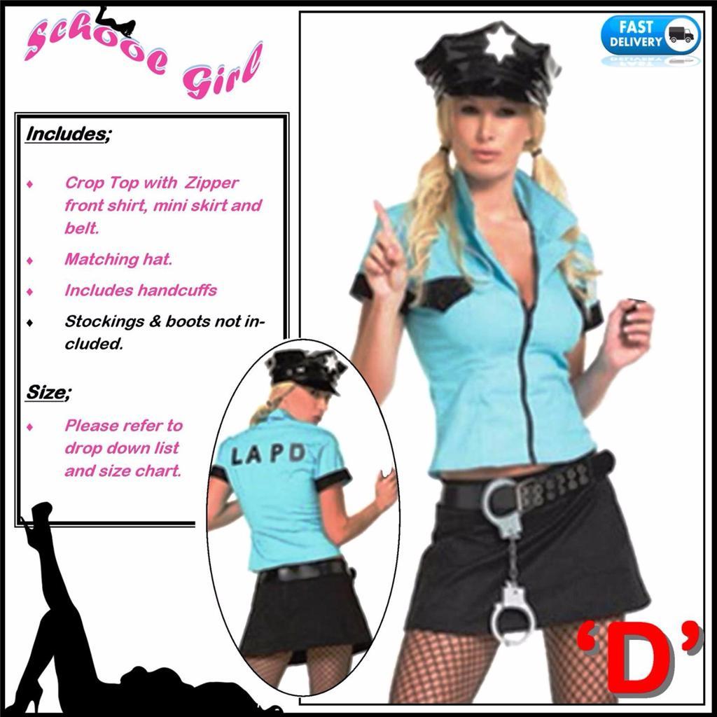 Police Robber Criminal Fancy Dress Party Ladies Men Policemen ...