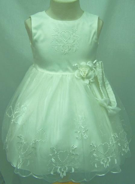 Flower-Girls-ivory-Wedding-Party-Pageant-Christening-Dresses-size-1-to-6-Years