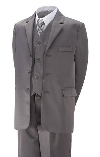 BOYS-FORMAL-5-PIECE-SUIT-GREY-BLACK-PAGE-BOY-WEDDING-PROM-6-Mths-14-years
