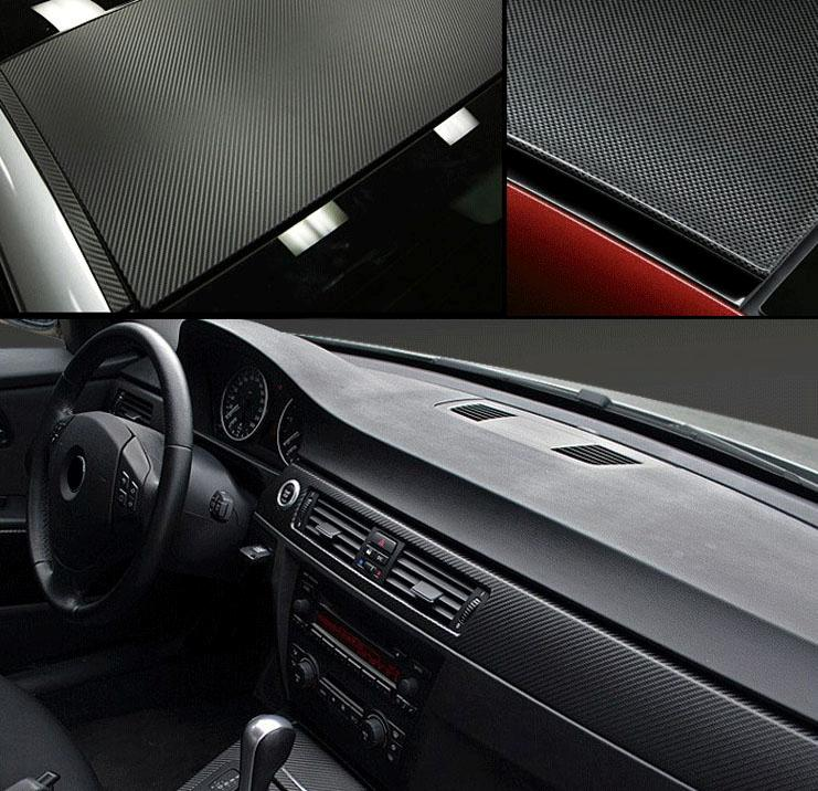 4d carbon fiber texture car sticker vinyl wrap sheet body decal interior decor ebay. Black Bedroom Furniture Sets. Home Design Ideas