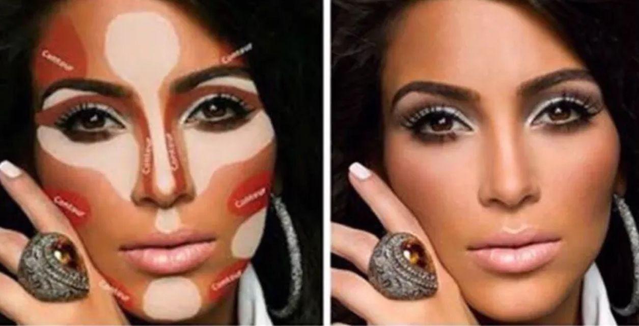 Ким кардашьян схема макияжа