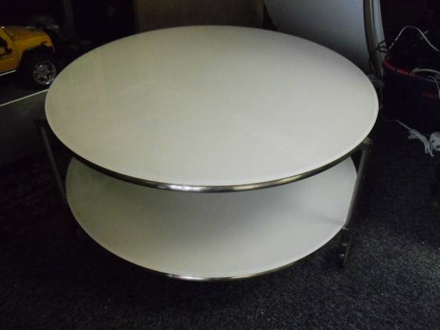 Superb Round Glass Coffee Table With Wheels