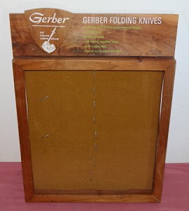 Vintage Gerber Folding Knives Store Countertop Display
