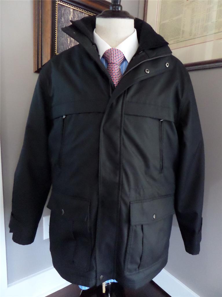 michael kors mens sz l perfect winter coat jacket black nwot recent ebay. Black Bedroom Furniture Sets. Home Design Ideas