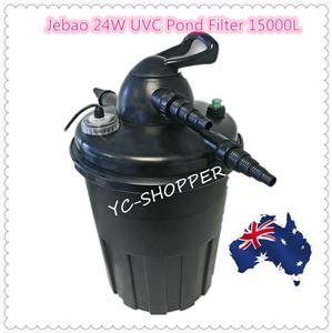 Jebao ecf 15000 24w uvc easy clean bio pressure pond for Easy clean pond filter