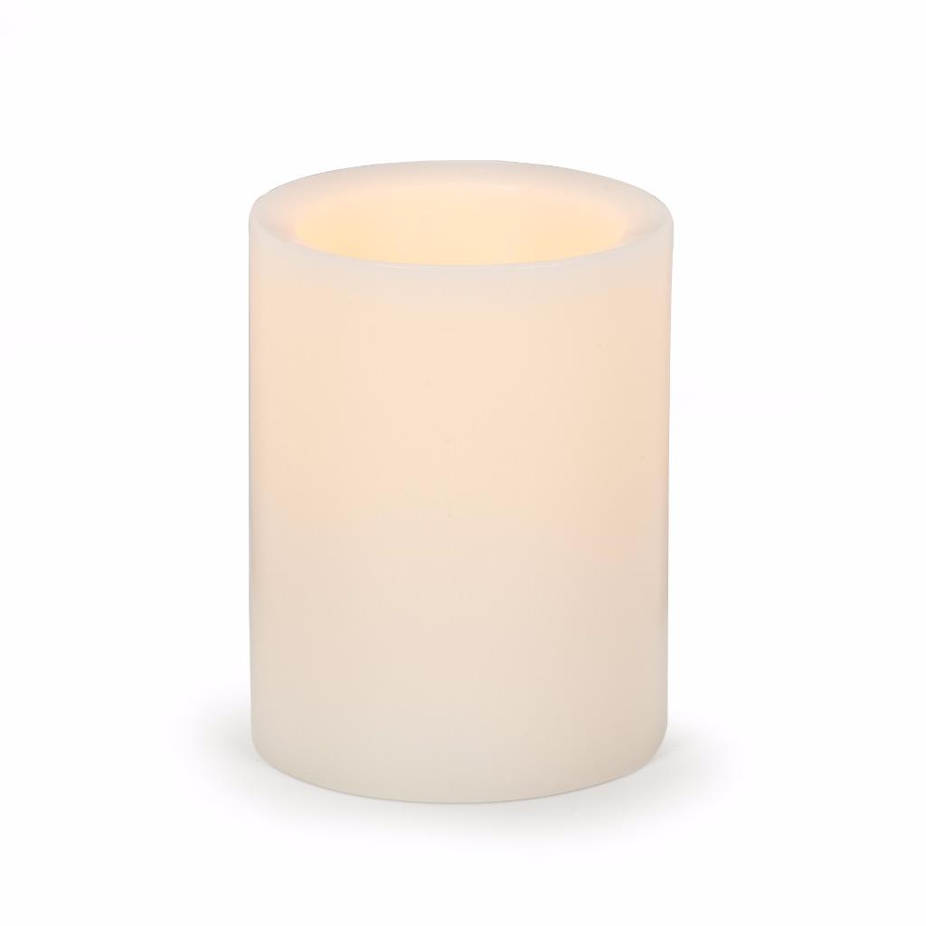 ivory reallite pushwick wax flameless pillar led candles with remote ebay. Black Bedroom Furniture Sets. Home Design Ideas