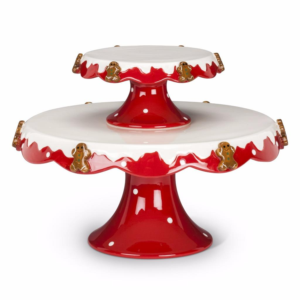 Christmas Gingerbread Cake Stand Ebay