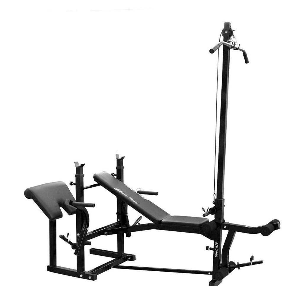 New Lifespan Mf2000 Home Fitness Gym Bench Press Lat Pulldown Leg Curl Preacher Ebay