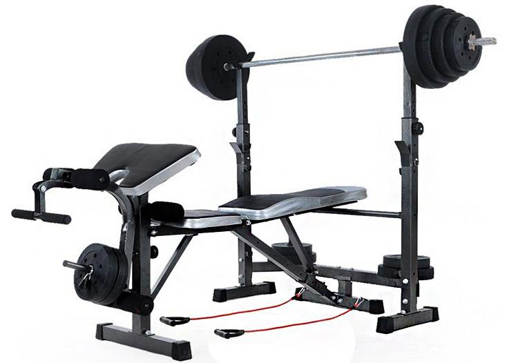 5 in 1 multi station gym bench press weight fitness home for Squat station