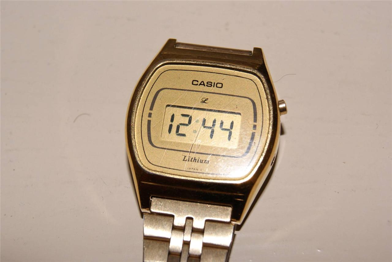 vintage casio retro style gold tone digital ebay