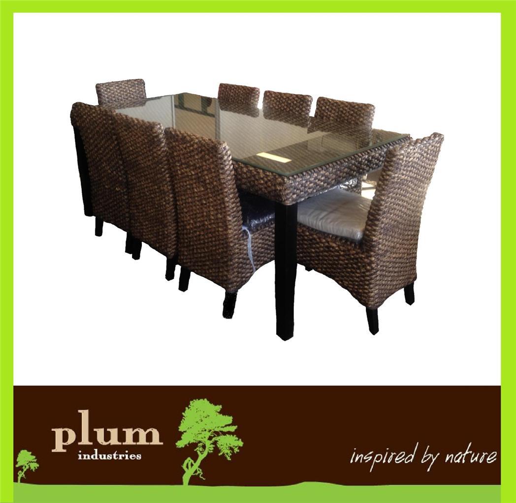 piece wicker rattan dining set indoor outdoor patio furniture home
