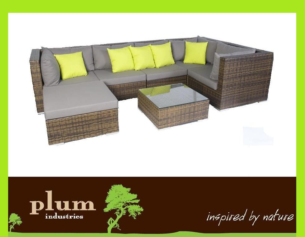 New-Outdoor-Furniture-Wicker-Rattan-Sofa-Lounge-Setting-Patio-Garden-Daybed-Set
