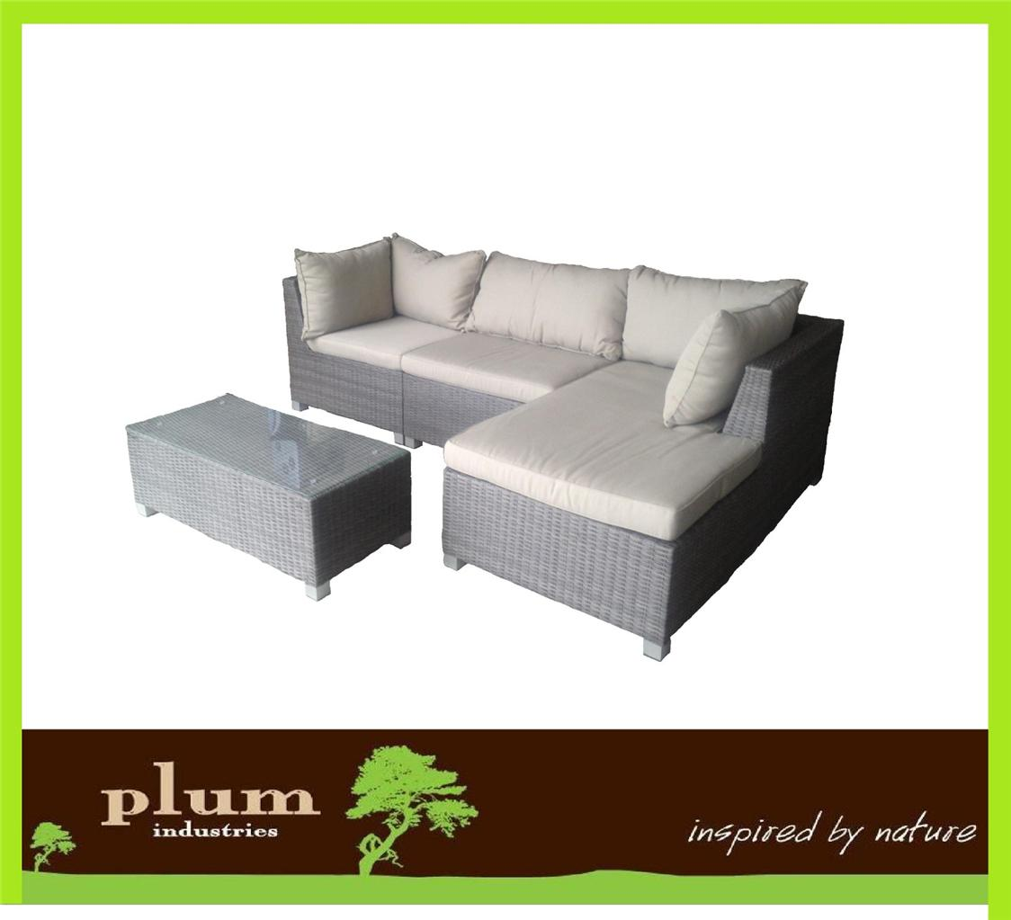Wicker outdoor furniture lounge rattan sofa daybed set for Divan sofa set