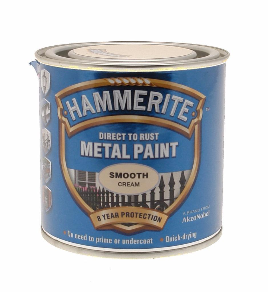 Hammerite 250ml direct to rust smooth finish metal paint in various