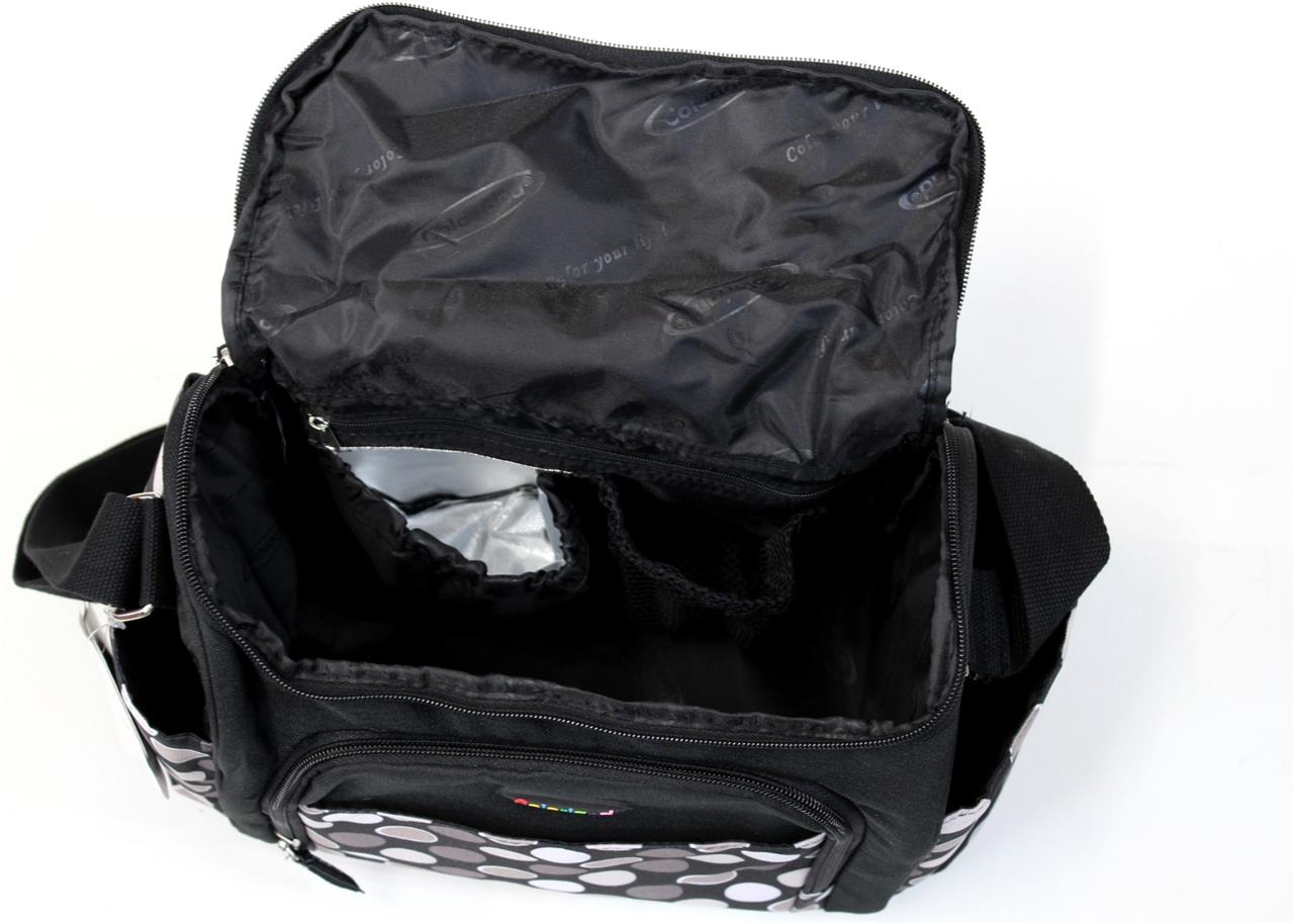 baby diaper nappy bag w 11 compartments incl insulated bottle space n pram strap ebay. Black Bedroom Furniture Sets. Home Design Ideas