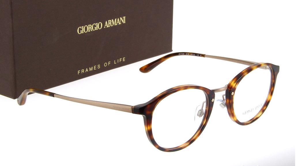 Armani Eyeglasses Frame : AUTHENTIC GIORGIO ARMANI EYEGLASSES AR70285018 HAVANA ...