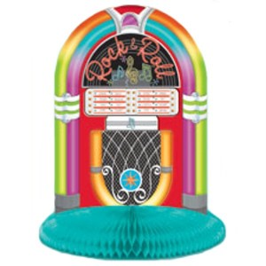 Rock n roll 60s and 70s theme party juke box centrepiece decorations ebay - Rock and roll theme party decorations ...