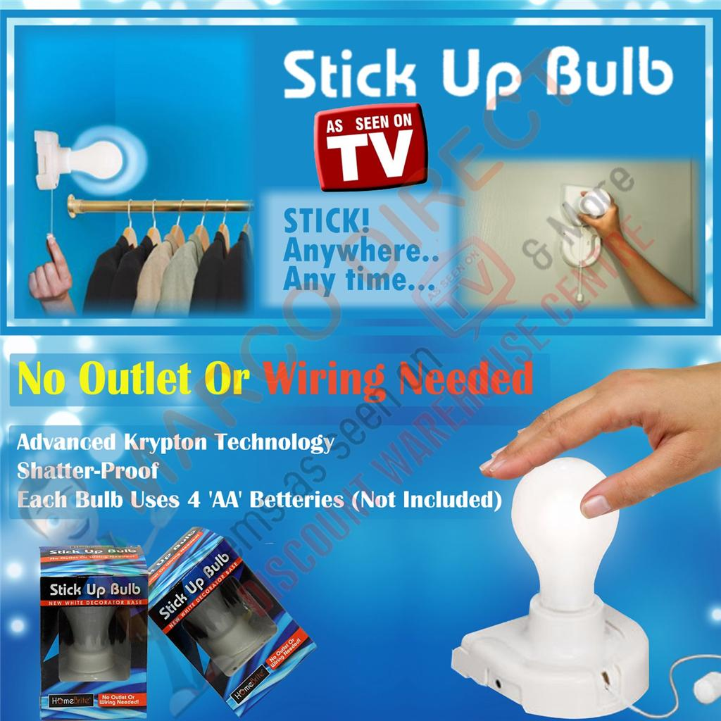 Wall Light Bulb As Seen On Tv : 2 X Insta Stick UP Bulb NO Wires Needed AS Seen ON TV 24hr Send OUT eBay