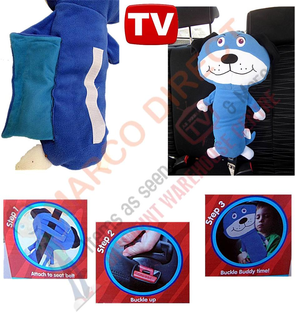 Seat Belt Animal Pillow As Seen On Tv : Seat Belt PET Buddy Snuggle Doggy NO More Dangling Heads ON Trips AS Seen ON TV eBay