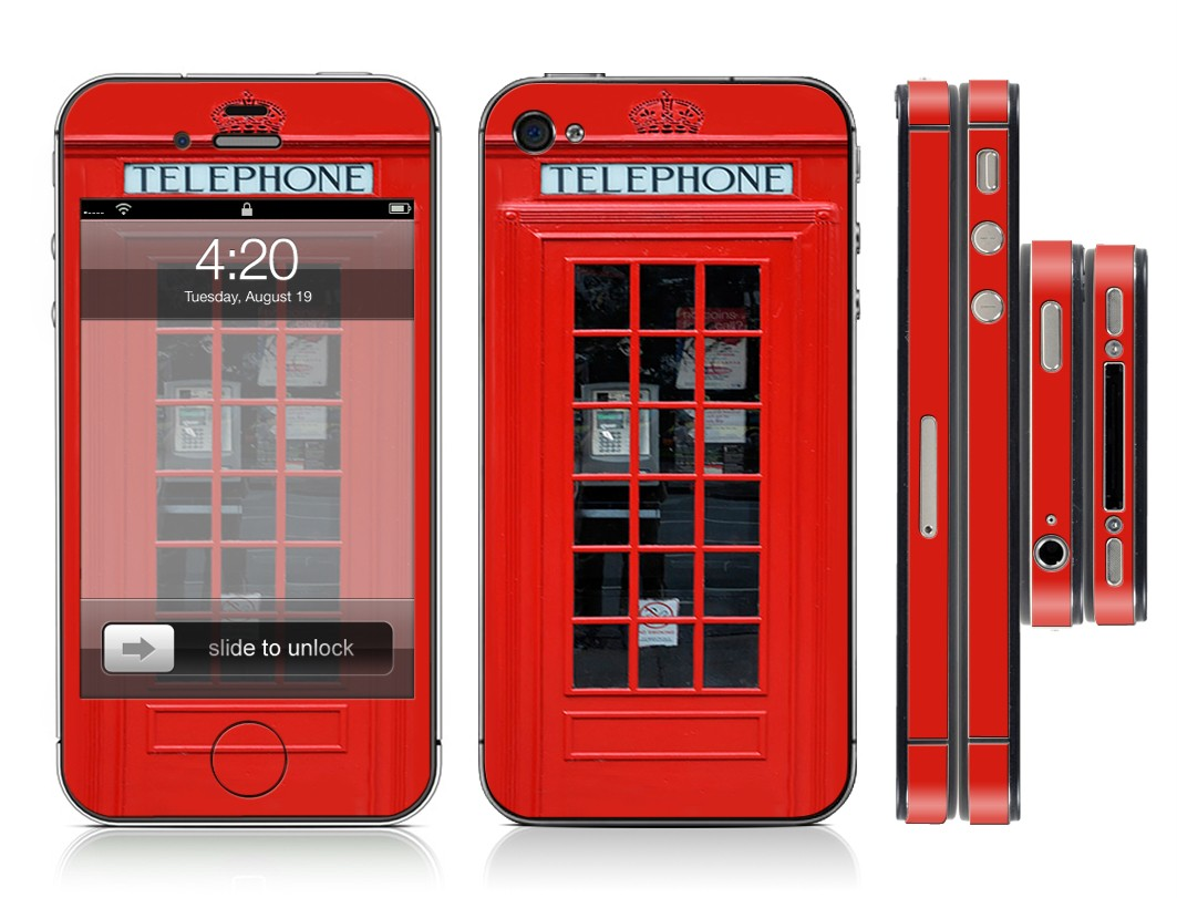 ... -Phone-Booth-Full-Vinyl-Skin-Cover-Sticker-Kit-Case-for-Iphone-4-4s