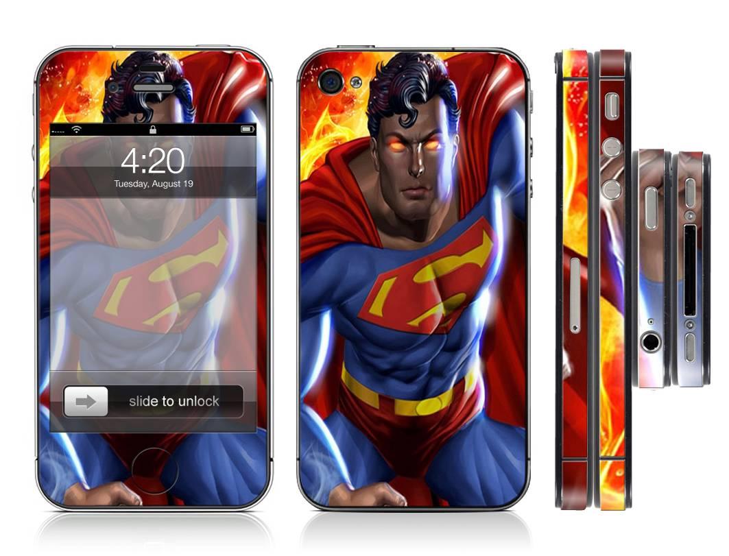 7250 Case Decal Kits : Superman superhero full decal vinyl skin cover sticker kit