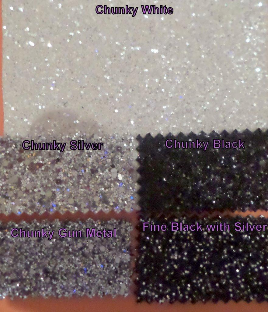 GLITTER FABRIC *BEST QUALITY & BEST PRICES* GRADE 3 + 3D Grade 4 *  SEE SPARKLE
