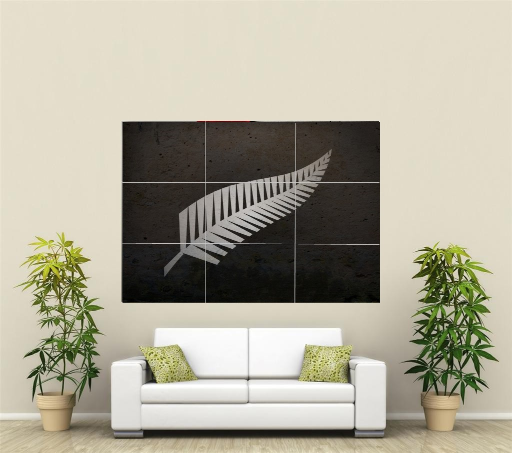 Nz all blacks rugby cricket g ant xl section d coration for Deco murale xl