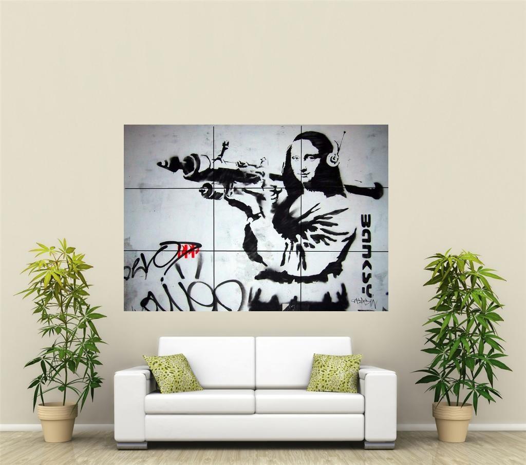 banksy bazooka g ant xl section d coration murale affiche art108 ebay. Black Bedroom Furniture Sets. Home Design Ideas
