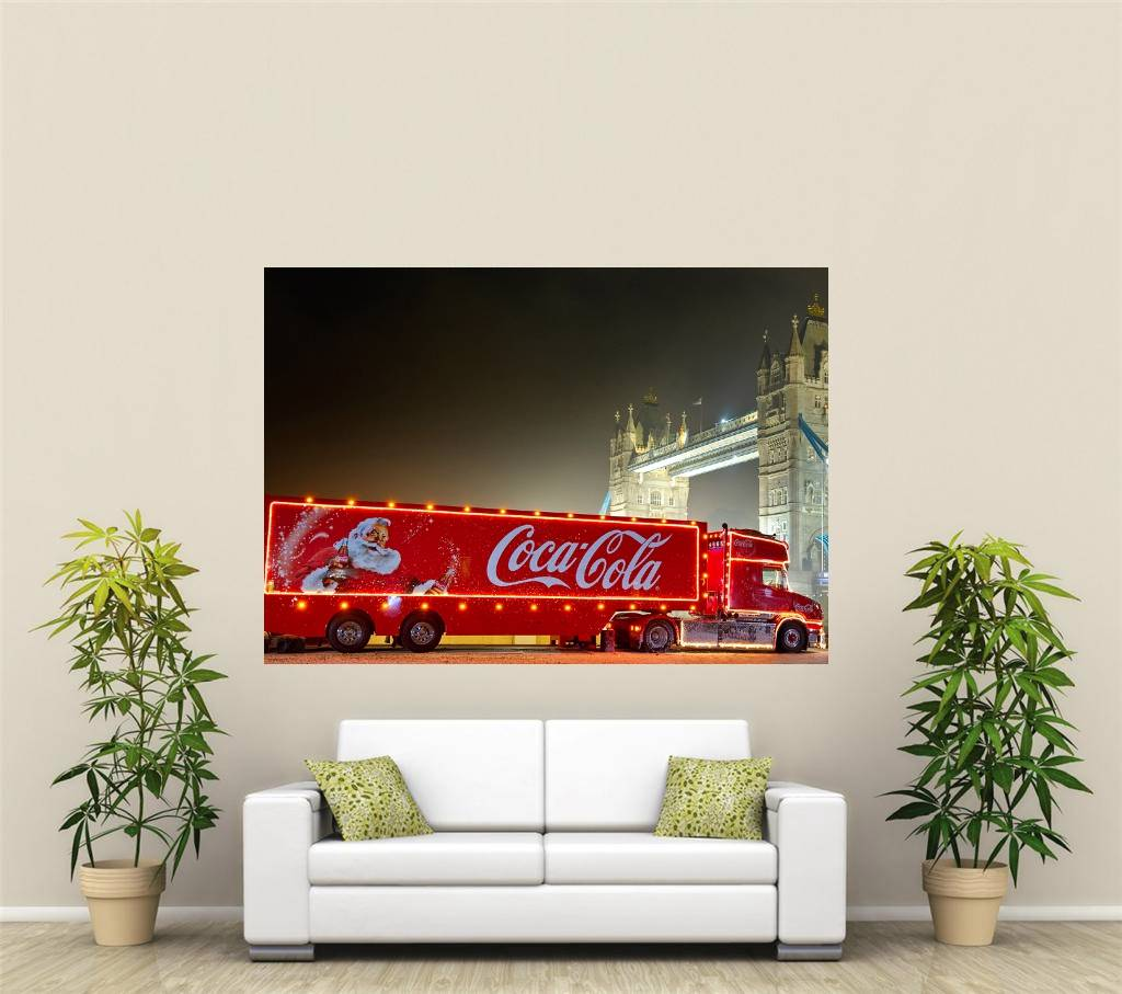 Coca cola no l camion g ant 1 pi ce d coration murale for Decoration murale one piece