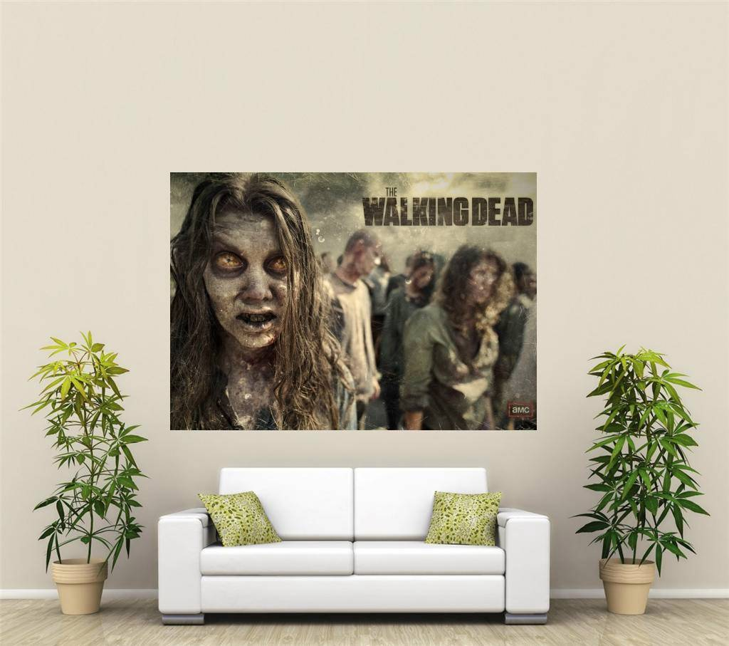 the walking dead riesig 1 teile wandkunst poster tvf165 ebay. Black Bedroom Furniture Sets. Home Design Ideas