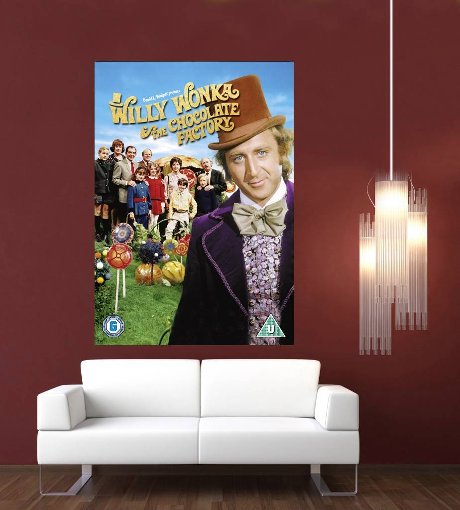 Willy wonka film housse g ant 1 pi ce d coration murale - Affiche murale decorative ...