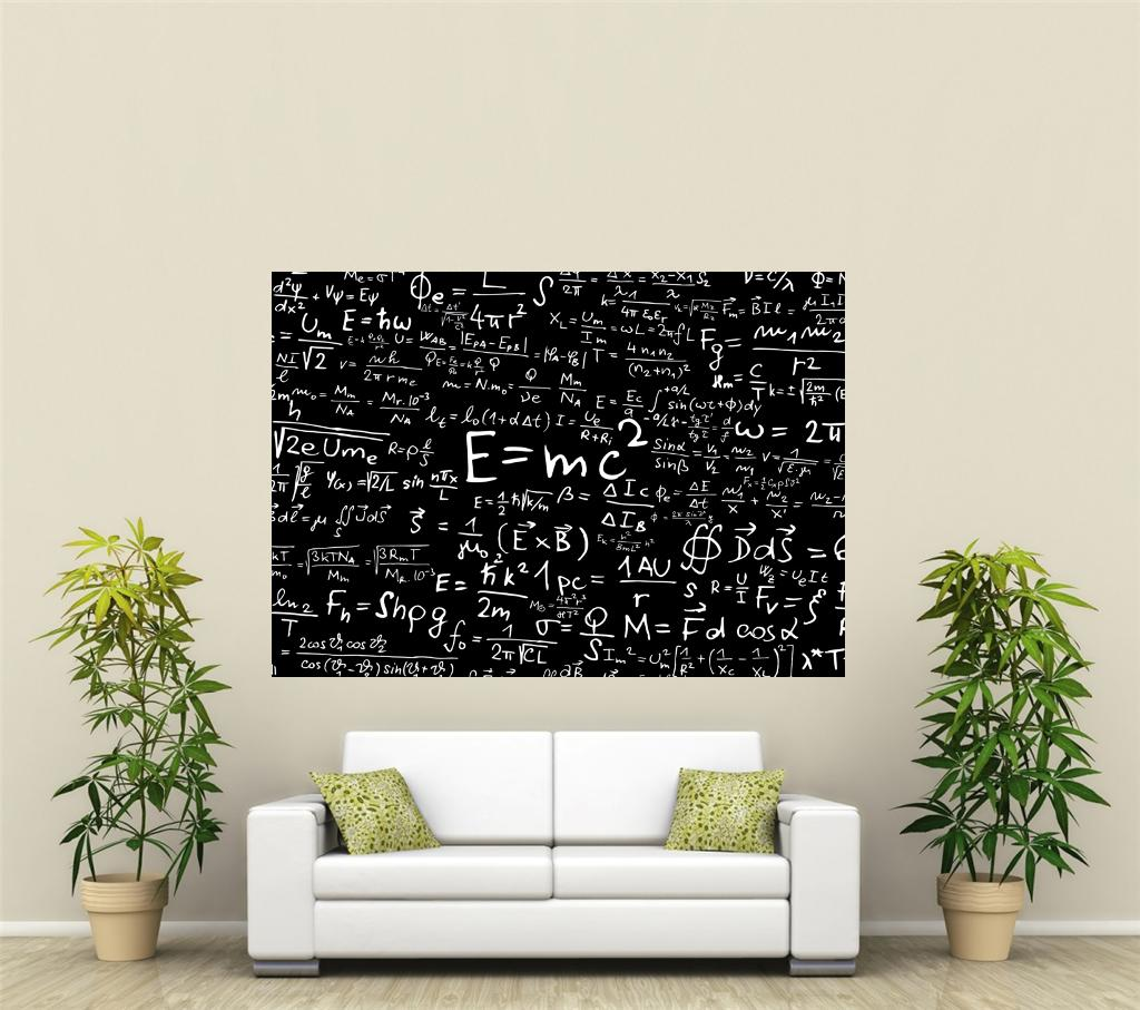 mathematik equationgiant 1 teile wandkunst poster o138 ebay. Black Bedroom Furniture Sets. Home Design Ideas