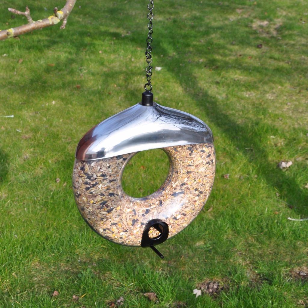 Deluxe Bird Feeder Seed Nuts Suet Fat Ball Wild Bird