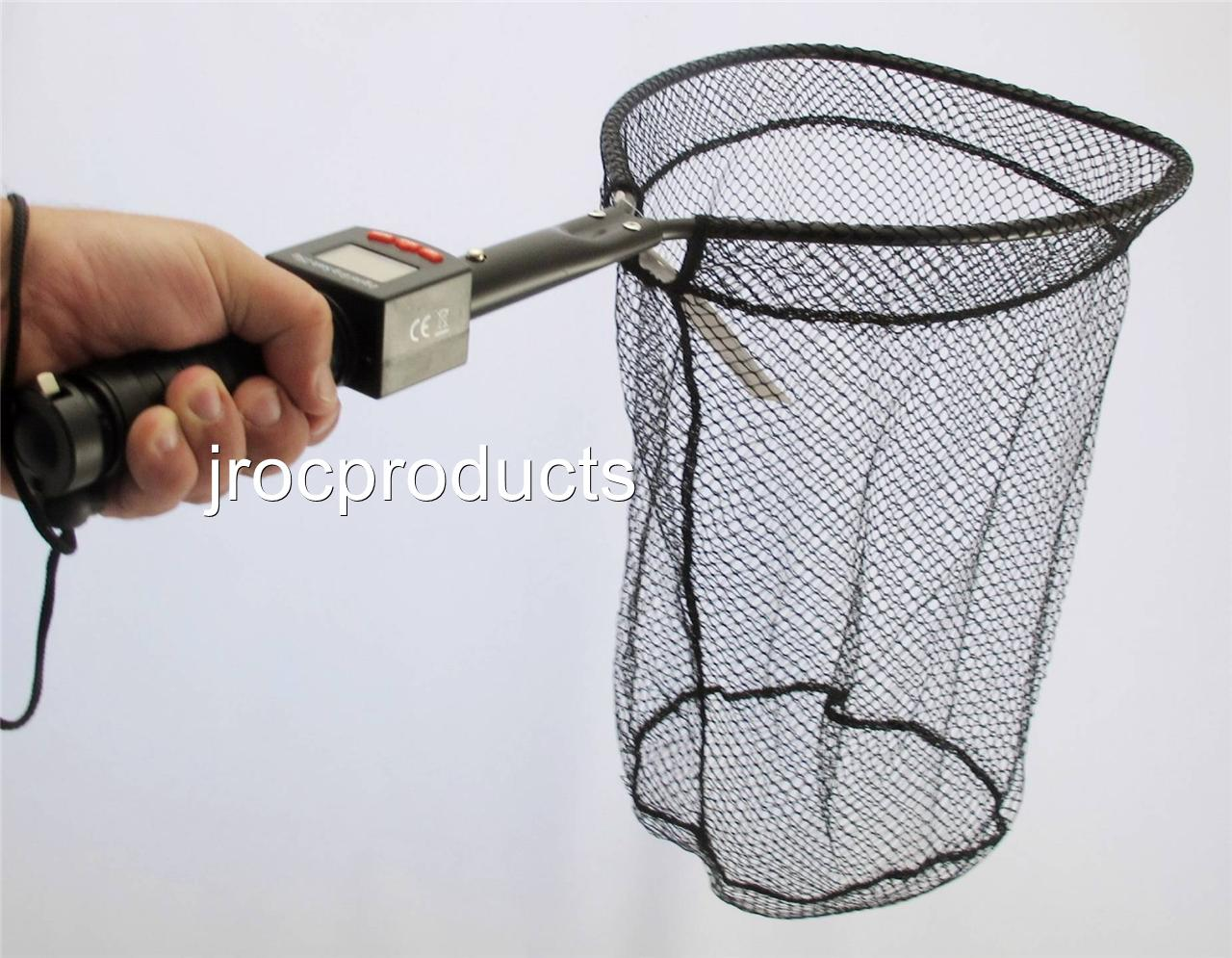 3in1 72cm fish fishing landing net with 25kg digital scale for Fish landing nets