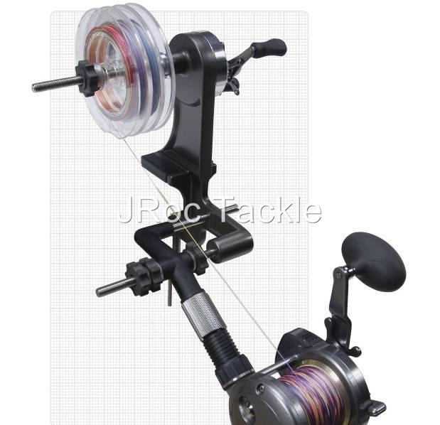 High speed double shaft recycler winder transfer fishing for Professional fishing line spooler