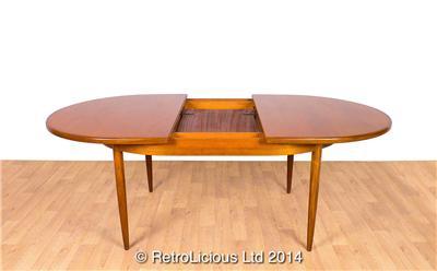 Gorgeous teak g plan fresco extending 6 seat dining table for G plan teak dining room furniture