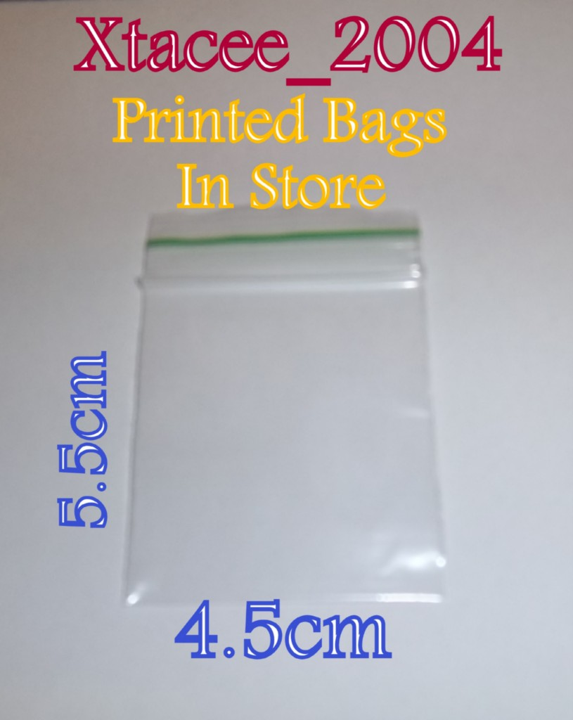 PGB008-4-5-x-5-5-cm-45-x-55mm-PLAIN-Clear-Grip-seal-Bags-choose-quantity
