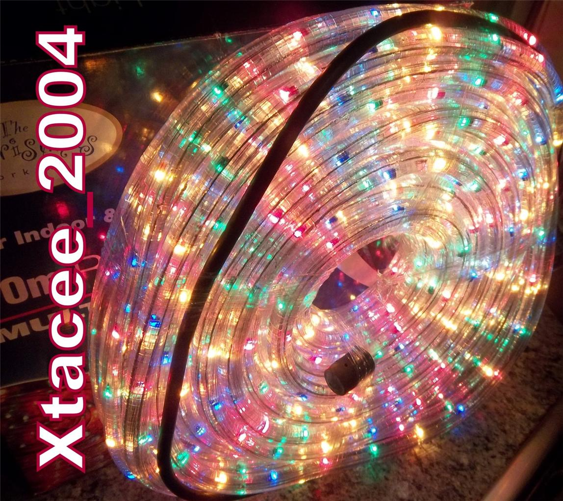Led Light Outdoor Decoration: #C022 Christmas INDOOR OUTDOOR All Weather LED ROPE LIGHT