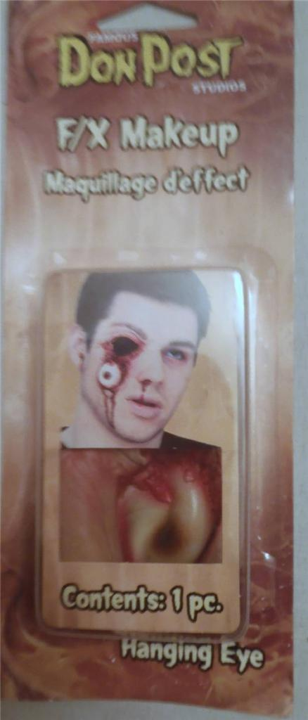 076-DON-POST-Special-Effects-Wound-Halloween-Prosthetic-Slashed-Throat-No-Eye