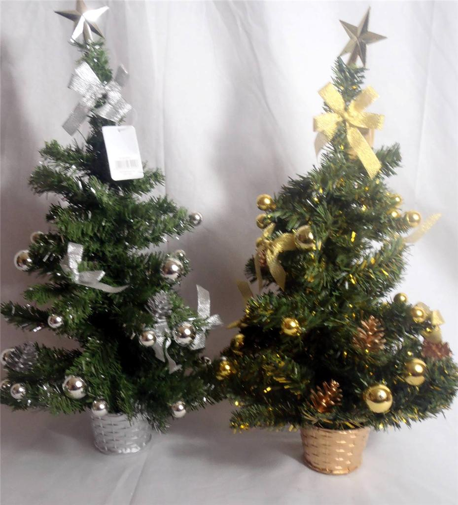 60cm-Desktop-Counter-Office-Work-Home-Decorated-Christmas-Tree-Gold-Or-Silver