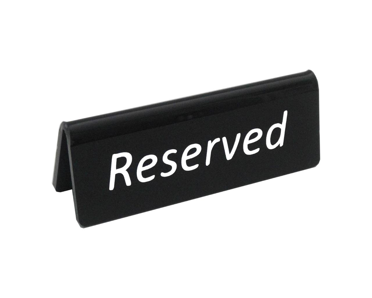 HIGH QUALITY RESTAURANT OR BAR PLASTIC RESERVED TABLE TABLETOP - Restaurant table signs