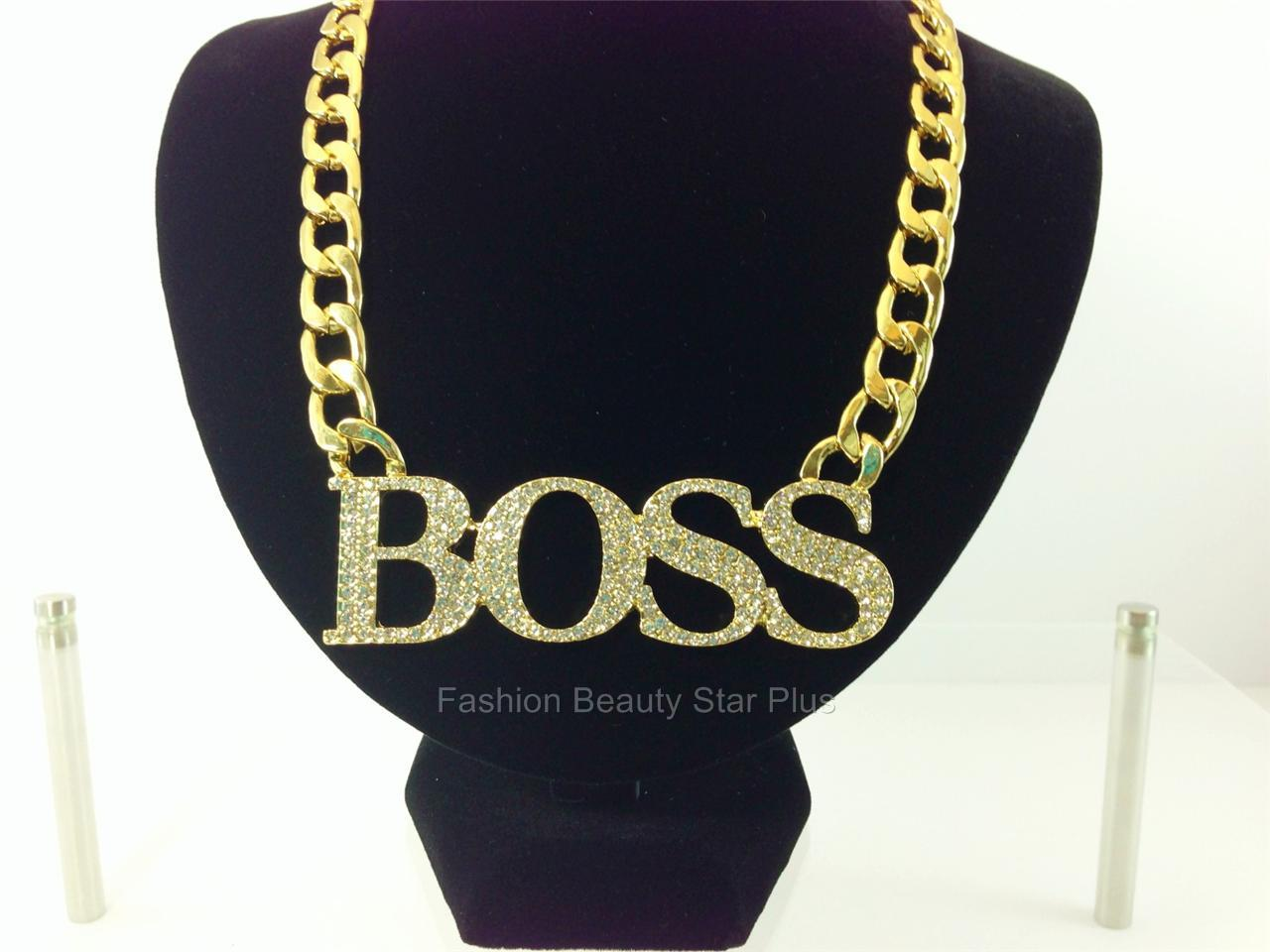 boss bling necklace crystal pendant basketball wives