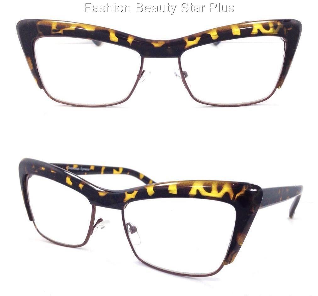 sassy cat eye reading glasses black or tortoise brown