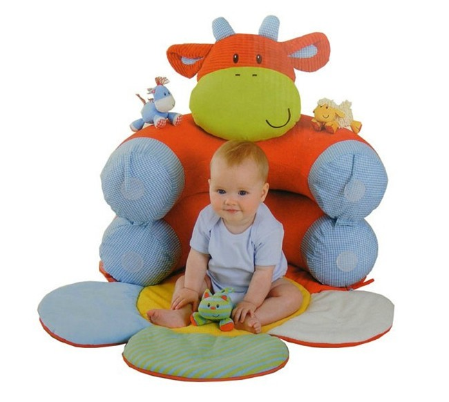 New In Box Elc Blossom Farm Sit Me Up Cosy Baby Seat Play