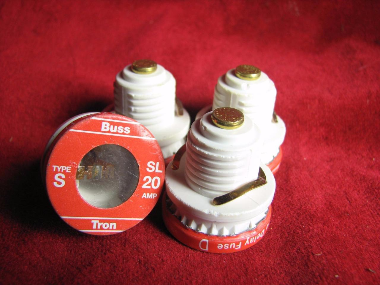 4 Buss Screw In Time Delay Fuses Type Sl 20 Amp S 30 Fuse Box