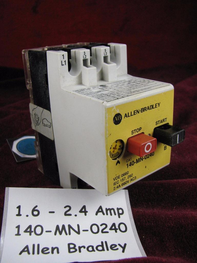 Allen Bradley Manual Motor Starter 140 Mn Ebay