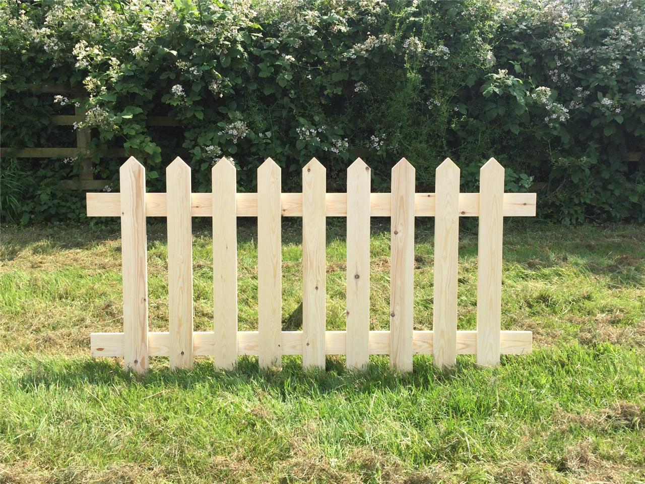 Marvelous photograph of Picket fence panel panels smooth redwood treated hand made in the UK  with #927B39 color and 1280x960 pixels