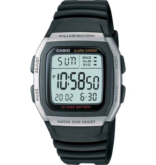 Casio-Watch-W96H-1AV-Dual-Time-10YR-Battery-Stopwatch-2YR-Warranty-Free-Pouch