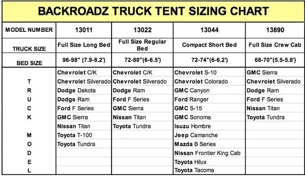 Napier Backroadz Camping Truck Tent Short Box Cab Fits Ford Gmc ...
