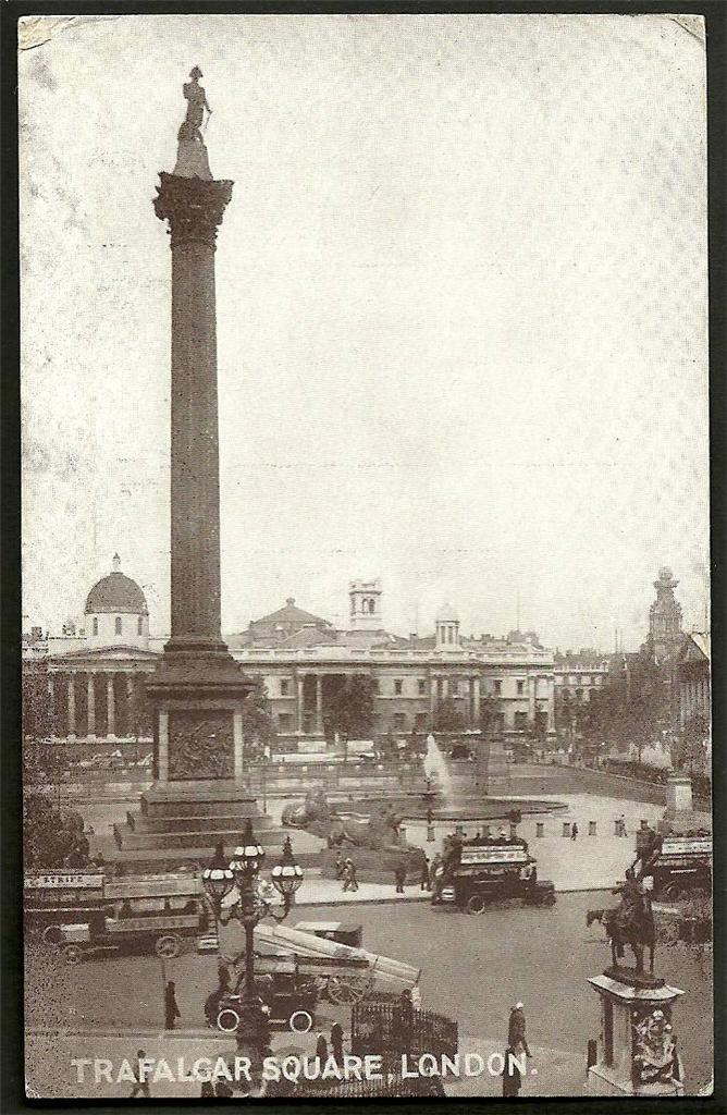 Trafalgar-Square-London-Old-Postcard-Ref-2-237